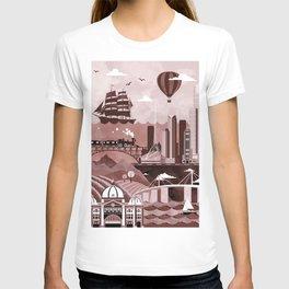 Melbourne Travel Poster Illustration T-shirt