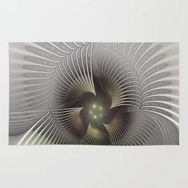 Stand Up, Abstract Fractal Art Rug