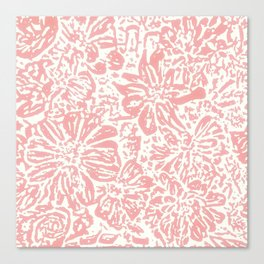 Marigold Lino Cut, Rose Pink Canvas Print