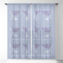 Myths & Monsters: Winged dog Sheer Curtain