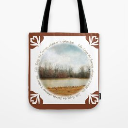 Goodbye Autumn Tote Bag
