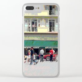 Activity in the Town Square Clear iPhone Case
