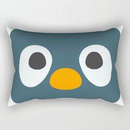 Cartoon Penguin Face Emote Rectangular Pillow