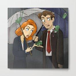 It's Raining Frogs, Mulder Metal Print