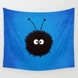 Blue Cute Dazzled Bug Wall Tapestry