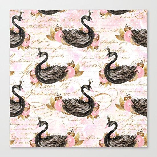 Black Swans ballerina #2 Canvas Print