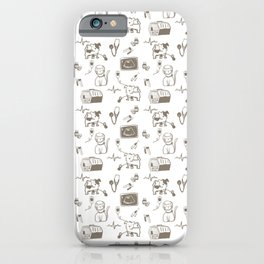 Dr Fluffton's Medicine day Grey and White iPhone Case