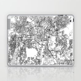 Kuala Lumpur White Map Laptop & iPad Skin