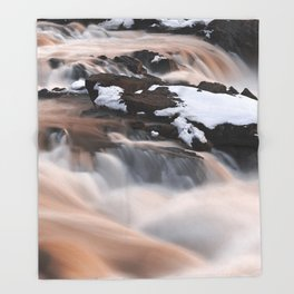 Ruby Winter Falls Throw Blanket