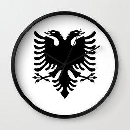 Albanian Eagle Wall Clock
