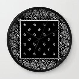 Classic Black Bandana Wall Clock