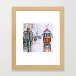 Istanbul Nostalgic Tramway Framed Art Print