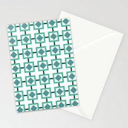BOXED IN, TURQUOISE Stationery Cards