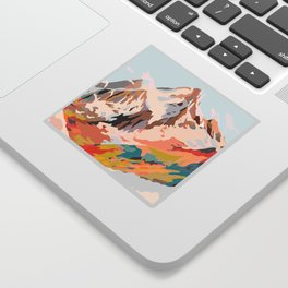 glass mountains Sticker