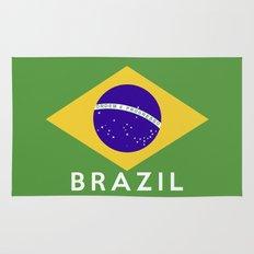 Brazil country flag name text Rug