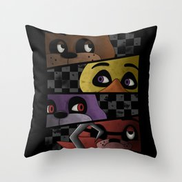 Freddy and Friends are Ready! Throw Pillow