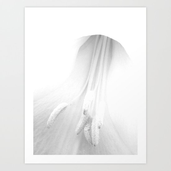 untitled white Art Print