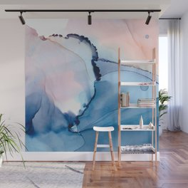 Blessing Fluid ink abstract watercolor Wall Mural
