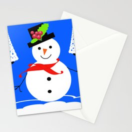 happy snowman Stationery Cards