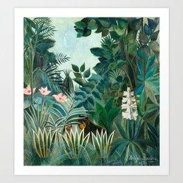Henri Rousseau - The Equatorial Jungle Art Print