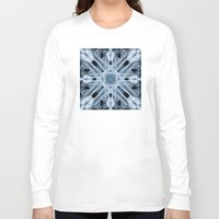 snowflake Long Sleeve T-shirts featuring Snowflake by Steve Purnell