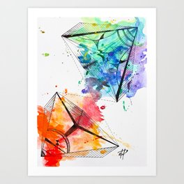 Colorfully Paired Art Print