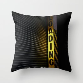 Urban street scene Yellow. Throw Pillow