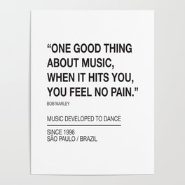 Good Thing About Music Poster