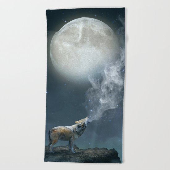 The Light of Starry Dreams Beach Towel