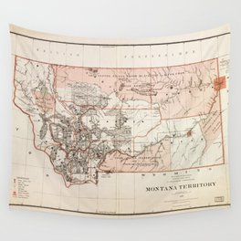 Map of Montana Territory by Charles Roeser (1879) Wall Tapestry