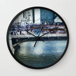 Light Bridge - Light Painting Wall Clock