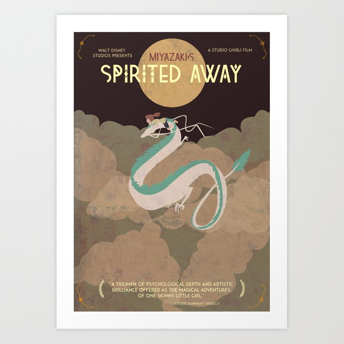 Minimalist Spirited Away Art Print by ladyjackalope | Society6