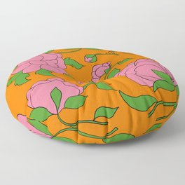 Chinoiserie peonies Floor Pillow