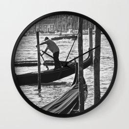Venetian Rower (B&W) Wall Clock