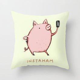 Instaham Throw Pillow