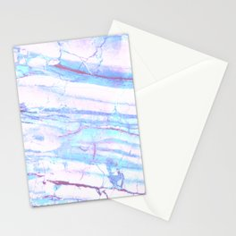 Pastel Marble with Blue Green Purple Stationery Cards