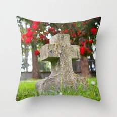 Cemetery Spring Throw Pillow