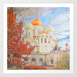 The Nativity of the Blessed Virgin Cathedral in the Conception Convent Art Print