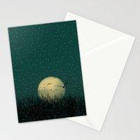 Winter night Stationery Cards