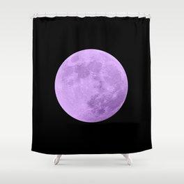 LAVENDER MOON // BLACK SKY Shower Curtain