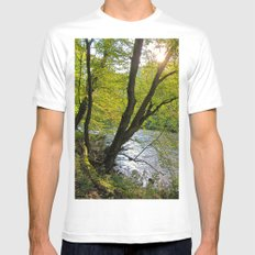 forest White Mens Fitted Tee MEDIUM