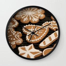 Holiday Iced Cookies Wall Clock