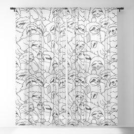 Oh Sloth Sheer Curtain