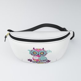 Cute Owl 100th Day Of School Student Teacher Gift Fanny Pack