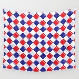 Stars and Stripes Plaid  Wall Tapestry