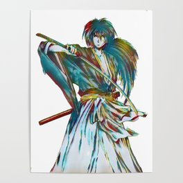 Anime Art - The Way of the Sword Poster