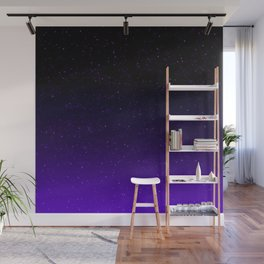 Black/Purple Gradient (with sparkles) Wall Mural