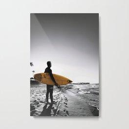 Surfboard Beach Metal Print