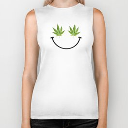 Weed Smile Biker Tank