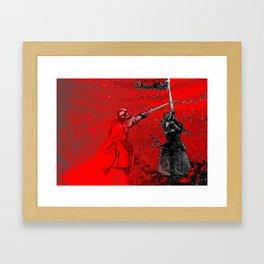 Sweep like Fire & Immovable like Mountain Framed Art Print